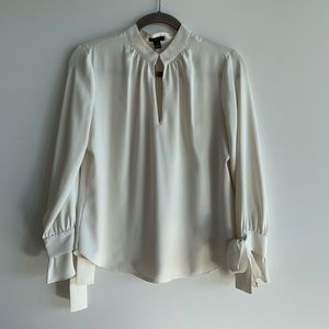 Ann Taylor Blouse with Bow Sleeves